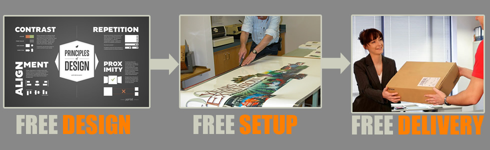 Free Design, Free Setup and Free Delivery for all purchases online